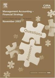 Cover of: Management Accounting- Financial Strategy November 2003 Exam Q&As (Management Accounting) | CIMA