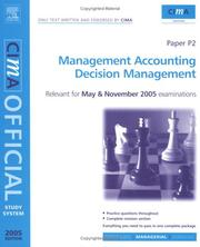 Cover of: CIMA Study System 05:Decision Management | Colin Wilks