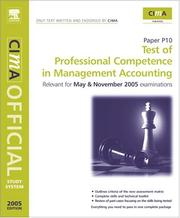 Cover of: CIMA Study System 05: Test of Professional Competence in Management Accounting by Heather Barnwell