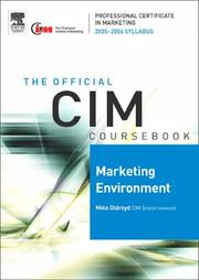 Cover of: CIM Coursebook 05/06 Marketing Environment (CIM Coursebook) by Mike Oldroyd
