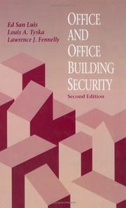 Cover of: Office and office building security by Ed San Luis