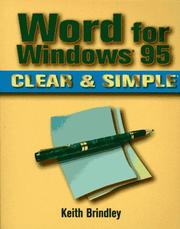 Cover of: Word for Windows 95 clear & simple | Keith Brindley