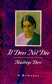 Cover of: It Does Not Die | Maitreyi Devi