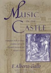 Cover of: Music in the Castle | F. Alberto Gallo