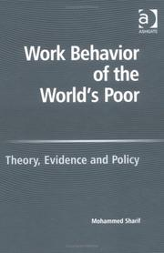 Cover of: Work Behavior of the World's Poor | Mohammed Sharif