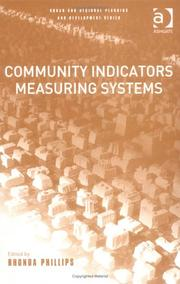 Cover of: Community Indicators Measuring Systems (Urban and Regional Planning and Development.) by Rhonda Phillips