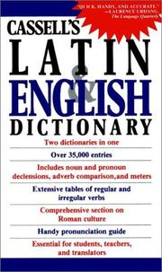 Cover of: Cassell's Concise Latin-English, English-Latin Dictionary | D. P. Simpson