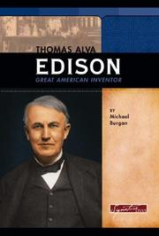 Cover of: Thomas Alva Edison | Michael Burgan