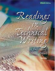 Cover of: READINGS IN TECHNICAL WRITING: A COLLECTION OF STUDENT PROJECTS IN ENGLISH 2303 | Nick Lilly