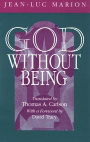 Cover of: God Without Being | Jean-Luc Marion