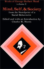 Cover of: Mind, self, and society by George Herbert Mead
