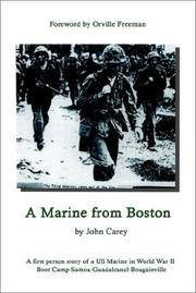 Cover of: A Marine From Boston by John Carey
