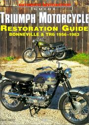 Cover of: Triumph motorcycle restoration guide by David Gaylin