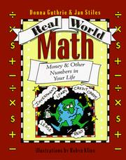 Cover of: Real world math | Donna Guthrie