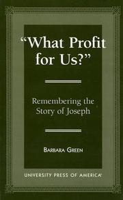 Cover of: What profit for us? | Green, Barbara