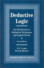 Cover of: Deductive logic | D. S. Clarke