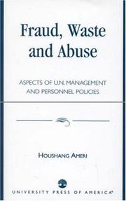 Cover of: Fraud, waste, and abuse | Houshang Ameri