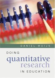 Cover of: Doing Quantitative Research in Education | Daniel Muijs