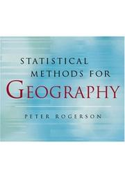 Cover of: Statistical methods for geography | Peter Rogerson