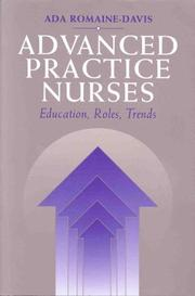 Cover of: Advanced Practice Nursing by Ada Romaine-Davis