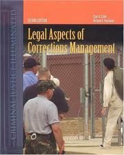 Cover of: Legal aspects of corrections management by Clair A. Cripe