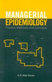 Cover of: Managerial Epidemiology | Alan Dever