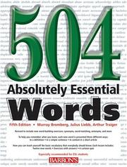 Cover of: 504 absolutely essential words | Murray Bromberg