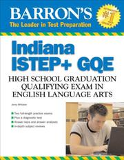 Cover of: Barron's Indiana ISTEP + GQE English Language Arts | Jenny Whitaker
