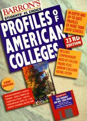 Cover of: Barron's Profiles of American Colleges (23rd ed) | College Division of Barron's Educational Series