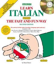 Cover of: Learn Italian the Fast and Fun Way w/4 CDs | Marcel Danesi