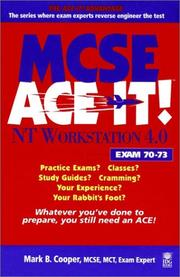 Cover of: MCSE NT workstation 4.0 ace it! | Mark B. Cooper
