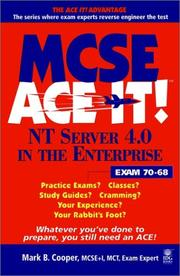 Cover of: MCSE NT Server 4.0 in the enterprise ace it! | Mark B. Cooper