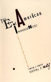 Cover of: The end of American innocence by Henry Farnham May