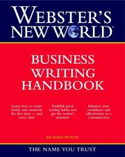 Cover of: Webster's New World business writing handbook | Richard Worth