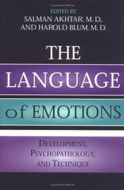 Cover of: The Language of Emotions | Harold P. Blum, International Margaret S. Mahler Symposium on Child Development (3rd 2000 Tokyo, Japan)