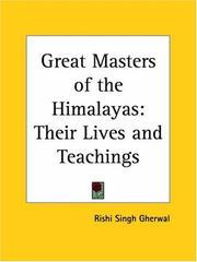 Cover of: Great Masters of the Himalayas | Rishi Singh Gherwal