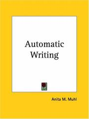 Cover of: Automatic Writing | Anita M. Muhl