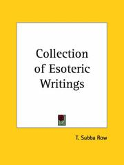 Cover of: Collection of Esoteric Writings by T. Subba Row