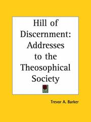 Cover of: Hill of Discernment | Trevor A. Barker