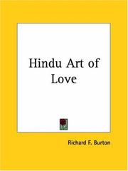 Cover of: Hindu Art of Love | Burton, Richard Sir