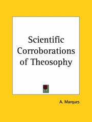 Cover of: Scientific Corroborations of Theosophy | A. Marques