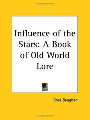 Cover of: Influence of the Stars | Rosa Baughan