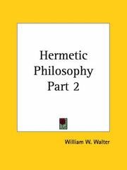 Cover of: Hermetic Philosophy, Part 2 by K. Barkel