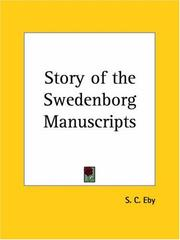 Cover of: Story of the Swedenborg Manuscripts | S. C. Eby