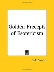 Cover of: Golden Precepts of Esotericism | G. De Purucker