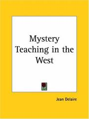 Cover of: Mystery Teaching in the West | Jean Delaire