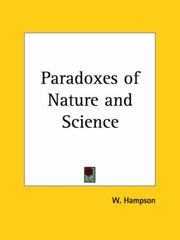 Cover of: Paradoxes of Nature and Science | W. Hampson
