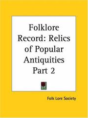Cover of: Folklore Record | Folk Lore Society