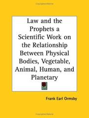 Cover of: Law and the Prophets | Frank Earl Ormsby