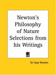 Cover of: Newton's Philosophy of Nature Selections from his Writings | John Conduitt
